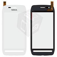 Touchscreen (сенсорный экран) для Nokia 603, оригинал (белый)