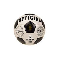 М'яч футбольний B26114 діаметр 21,8 см (Чорний)