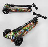 Детский самокат три колеса, усиленная рама, полиуретановые колеса светятся  Best Scooter 46-009 MAXI, фото 5