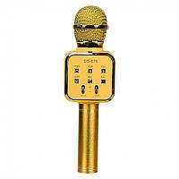 Микрофон караоке DS-878 с колонкой  (Gold)