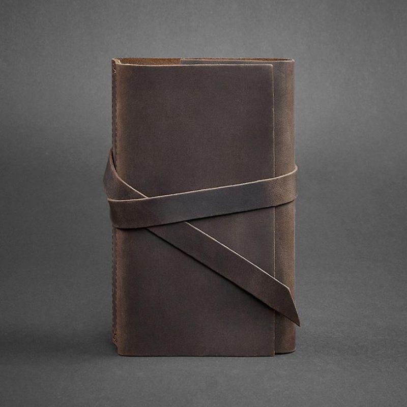 Кожаный блокнот BlankNote 1.0 Темно-коричневый (BN-SB-1-st-o)