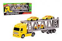 """Іграшковий Трейлер з причепом автовоз """"АВТОПРОМ"""" 7943A зі звуковими ефектами"""