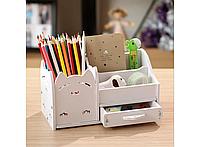 Подставка-органайзер для канцелярских предметов и мелочей HMD Белая (103-10222397), фото 1