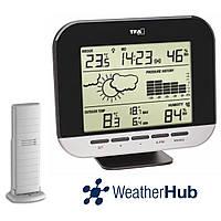 Беспроводная метеостанция для дома TFA Connect WeatherHub Black (160*36(56)*130(145) мм)