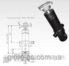 Ремонт Гидроцилиндр КАМАЗ для подъ платформы прицепа СЗАП-8551-01