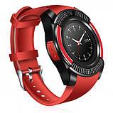 Сенсорні Smart Watch V8 смарт годинник розумні годинник ЧЕРВОНІ, фото 2