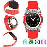 Сенсорні Smart Watch V8 смарт годинник розумні годинник ЧЕРВОНІ, фото 3