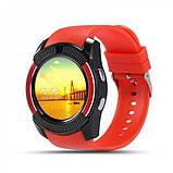 Сенсорні Smart Watch V8 смарт годинник розумні годинник ЧЕРВОНІ, фото 7