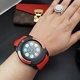 Сенсорні Smart Watch V8 смарт годинник розумні годинник ЧЕРВОНІ, фото 8
