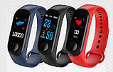 Фітнес-годинник М3, смарт браслет smart watch, аналог mi band 3, трекер, сенсорні фітнес годинник, фото 4