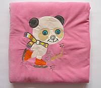"""Одеяло-конверт """"Панда"""", теплое на махре, размер 85х85 см"""