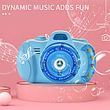 Детский фотоаппарат для мыльных пузырей, генератор Bubble Camera, фото 4