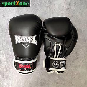 Перчатки для бокса Reyvel винил (искусственная кожа) 12 oz (унций) черный