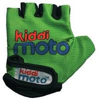 Перчатки детские Kiddi Moto неоновые зелёные, размер S на возраст 2-4 года