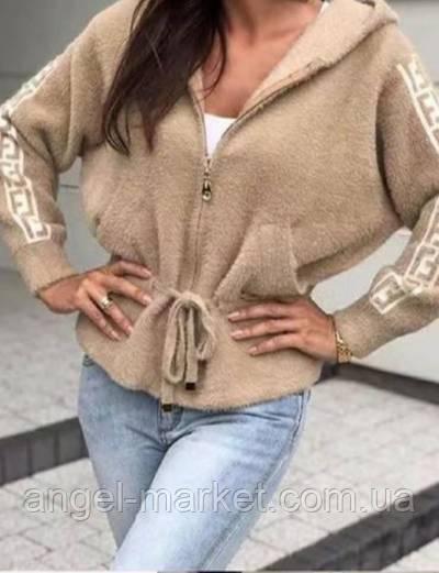 Теплая женская кофта альпака 42/46 оверсайз новинка 2021