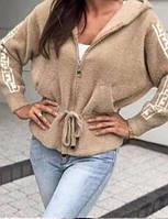 Теплая женская кофта альпака 42/46 оверсайз новинка 2021, фото 1