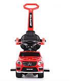 Дитяча каталка-толокар з ручкою, трансформується в гойдалку Bambi «Mercedes-Benz» SX1578-3 AMG, червоний, фото 5
