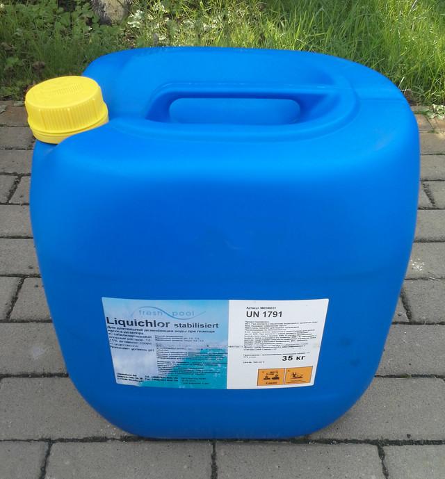 Химия для бассейнов | Жидкий хлор FreshPool, 35 кг