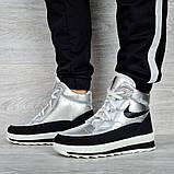 Женские ботинки зимние серебристые (15117ср), фото 3