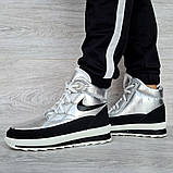 Женские ботинки зимние серебристые (15117ср), фото 4