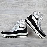 Женские ботинки зимние серебристые (15117ср), фото 5