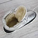 Женские ботинки зимние серебристые (15117ср), фото 7
