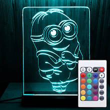 Акриловый светильник-ночник с пультом 16 цветов Миньон (Mignon) tty-n000045