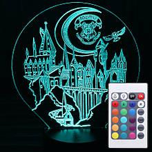 Акриловый светильник-ночник с пультом 16 цветов Хогвартс tty-n000174
