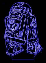Акриловый светильник-ночник Звездные Войны R2-D2 синий tty-n000713