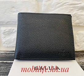 Чоловічий чорний Гаманець Balisa на магніті /Чоловіче чорне портмоне /