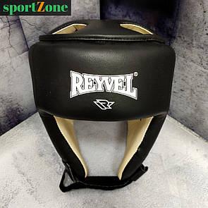Шлем боксерский защитный Reyvel винил L (56-60 см) черный