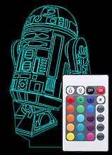 Акриловый светильник-ночник с пультом 16 цветов Звездные Войны R2-D2 tty-n000718
