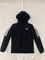 Зимова чоловіча куртка Adidas розмір норма 48-56,колір темно-синій