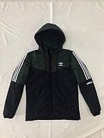 Зимова чоловіча куртка Adidas розмір норма 48-56,колір темно-синій з хакі
