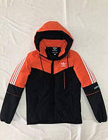 Зимова чоловіча куртка Adidas розмір норма 48-56,колір чорний з червоним