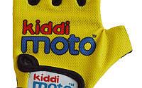 Перчатки детские Kiddi Moto неоновые жёлтые, размер М на возраст 4-7 лет