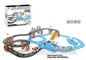 Залізниця 8870-1 Експрес, 98 елементів, довжина шляхів 717 см, 2 локомотиву, вагон, машинка, звук, світло