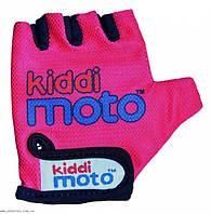 Перчатки детские Kiddi Moto неоновые розовые, размер М на возраст 4-7 лет