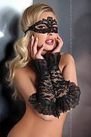 Черные перчатки с оборками Livia Corsetti Gloves Model 13