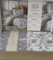 Комплект постельного белья, сатиновый, евро размер, Турция