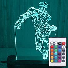 Акриловый светильник-ночник с пультом 16 цветов Железный Человек tty-n000032