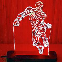 Акриловый светильник-ночник Железный Человек красный tty-n000009