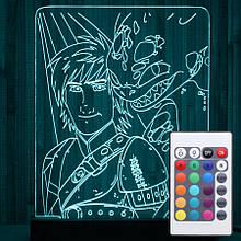 Акриловый светильник-ночник с пультом 16 цветов Приручить Дракона tty-n000031