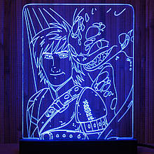 Акриловый светильник-ночник Приручить Дракона синий tty-n000008