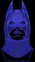 Акриловый светильник-ночник Бэтмен синий tty-n000731