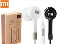 Вакуумные наушники с микрофоном белого цвета, фото 1
