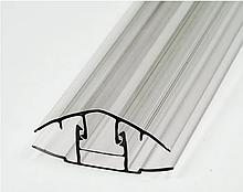 Соединительный профиль база-крышка HCP 10-16мм прозрачный 6000мм