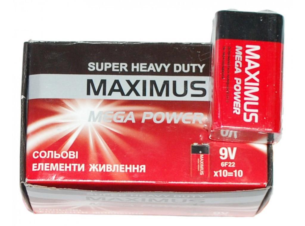 Батарейка Maximus крона 9V. ( Максимус )