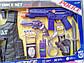 Дитячий набір поліцейського з автоматом, жилетом, звук, якість, в коробці, фото 3