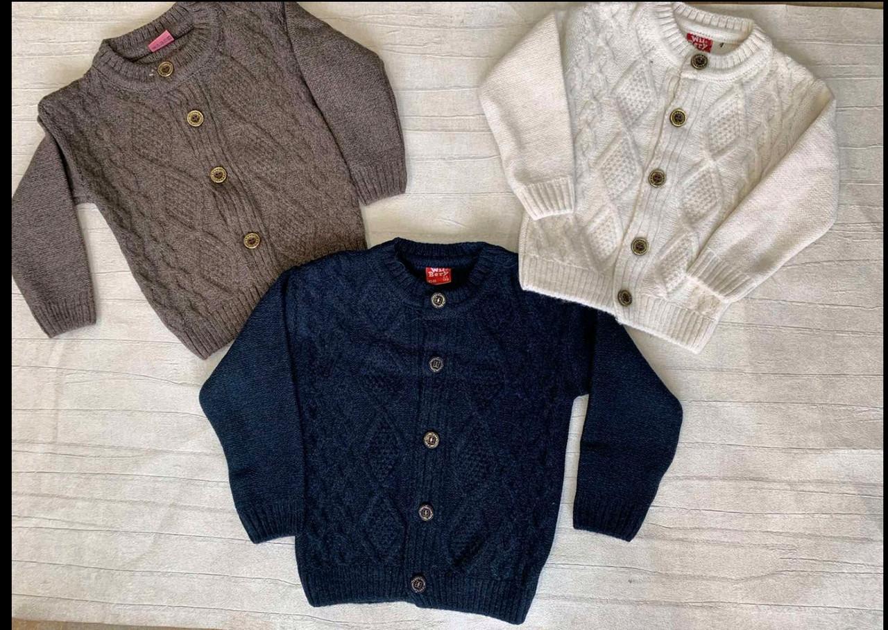 Кофти вязані для хлопчиків 1-3 року